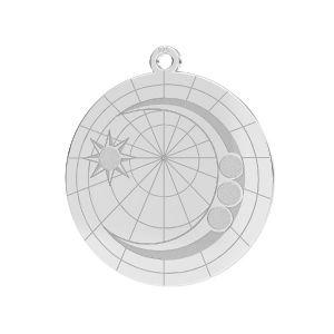 Zawieszka - księżyc baza do kryształów*srebro AG 925*LKM-2625- 0,50 22x23,5 mm