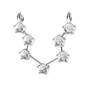 Zawieszka łącznik - znak zodiaku - wodnik baza do kryształów*srebro AG 925*ODL-00637 15x19,5 mm