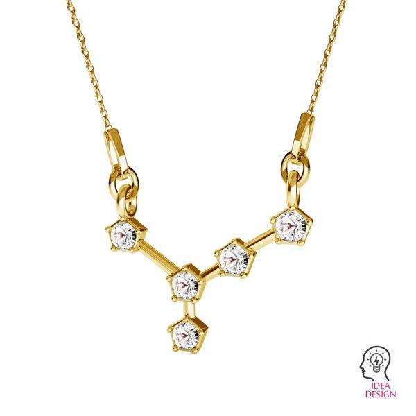Zawieszka łącznik - znak zodiaku - rak baza do kryształów*srebro AG 925*ODL-00651 15,8x19 mm