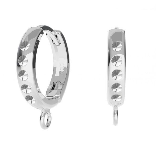 Bigiel angielski - okrągły typu kajdanki do podwieszania, baza do kryształów*srebro AG 925*ODL-00756 BZO 13,5x17 mm