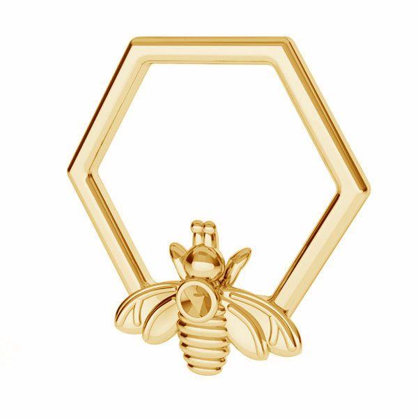 Zawieszka - plaster miodu pszczoła, baza do wklejania kryształów*srebro AG 925*ODL-00830 13,9x15 mm
