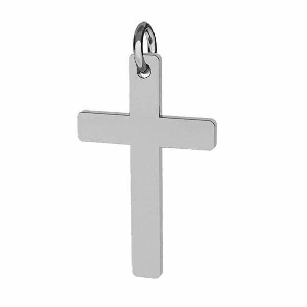 Zawieszka - prosty krzyż do grawerowania z kółkiem*srebro AG 925*J-LKM-2034 - 0,40 12x23 mm