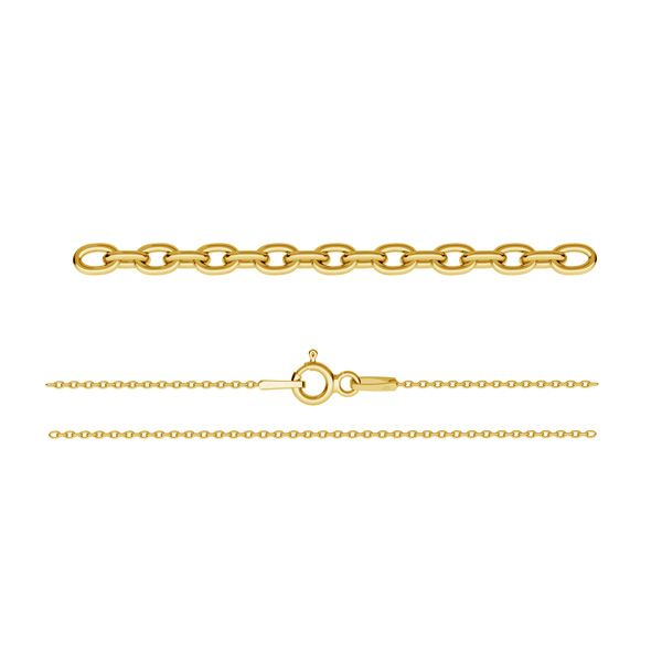 Łańcuszek typu Ankier z zamkiem*srebro AG 925*A 030 (42 cm)