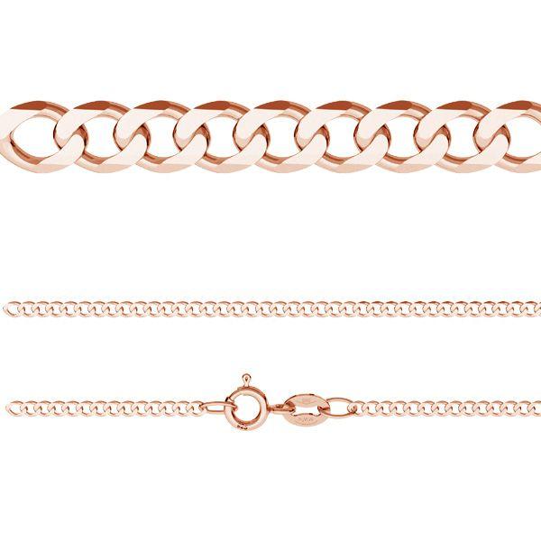 Łańcuszek typu Pancerka z zamkiem*srebro AG 925*PD 50 40-60 cm