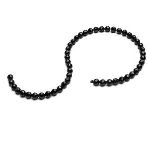 KULKA przelotowa czarny spinel 6 MM GAVBARI, kamień półszlachetny