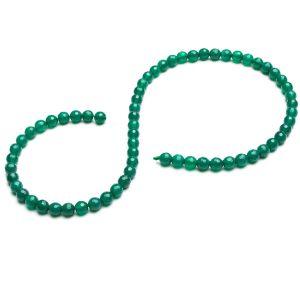 KULKA przelotowa onyx zielony 6 MM GAVBARI, kamień półszlachetny