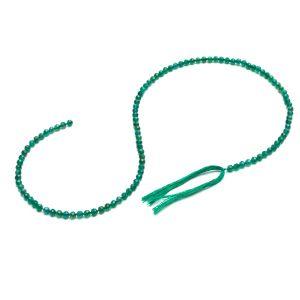 KULKA przelotowa onyx zielony 3 MM GAVBARI, kamień półszlachetny