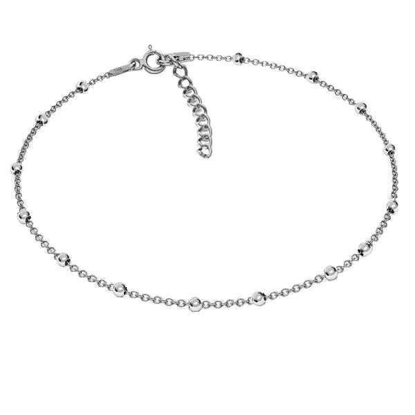 Bransoleta łańcuszkowa typu Ankier kulkowy*srebro AG 925*A 035 PL 2,5 25 + 4 cm