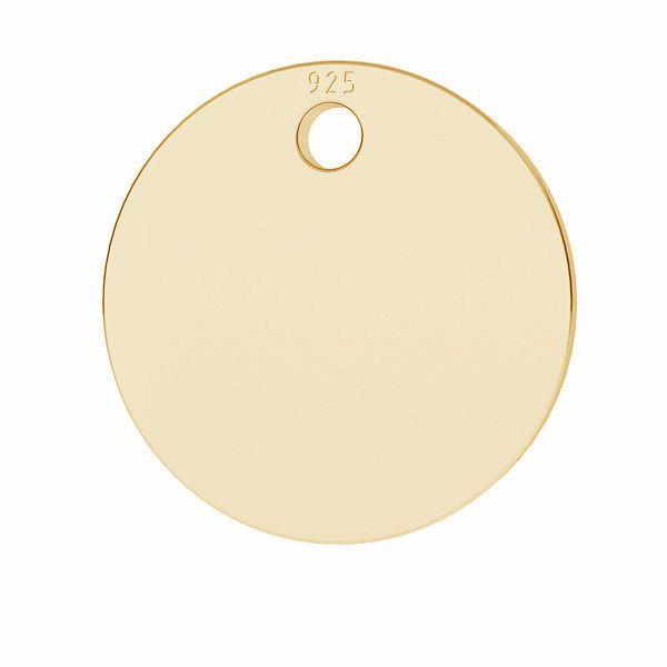 Zawieszka - mała okrągła blaszka do grawerowania*srebro AG 925*LKM-2017 - 0,80 12x12 mm