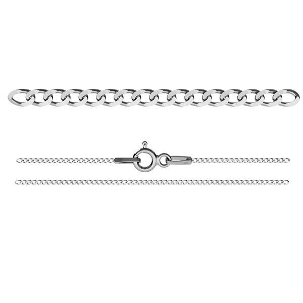 Łańcuszek typu Pancerka z zamkiem*srebro AG 925*PDS  35 (45 cm)