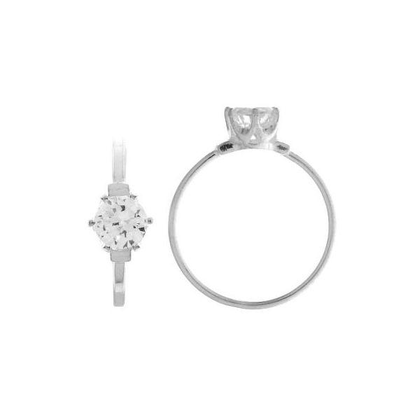Pierścionek z okrągłą cyrkonią*srebro AG 925*RING 01784 CRYSTAL 2x6 mm