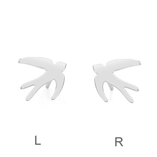 Kolczyk sztyft - ptak jaskółka (L+R)*srebro AG 925*KLS LKM-2613 - 0,50 9x9,5 mm (L+R)
