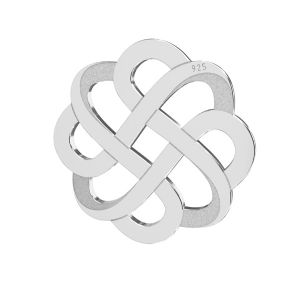 Zawieszka łącznik ażurowy - rozeta*srebro AG 925*LKM-2212 - 05 15,9x15,9 mm