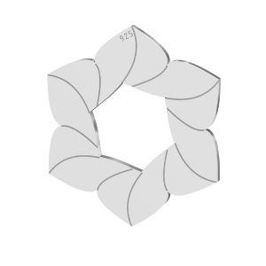 Zawieszka - kwiatek*srebro AG 925*LKM-2788 - 0,50 14,7x17 mm