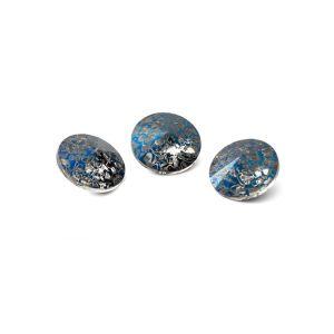 Okrągły kryształ 8mm, RIVOLI 8 MM GAVBARI METALIC BLUE PATINA