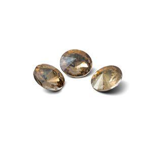 Okrągły kryształ 8mm, RIVOLI 8 MM GAVBARI IRIDESCENT GOLD