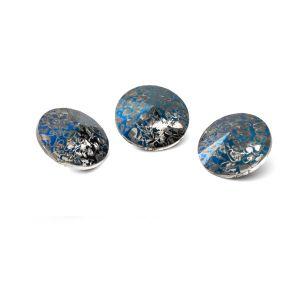Okrągły kryształ 10mm, RIVOLI 10 MM GAVBARI METALIC BLUE PATINA