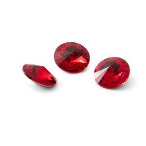 Okrągły kryształ 10mm, RIVOLI 10 MM GAVBARI LIGHT RED