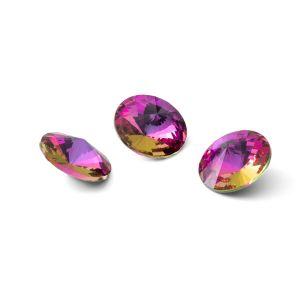Okrągły kryształ 10mm, RIVOLI 10 MM GAVBARI PURPLE ROSE