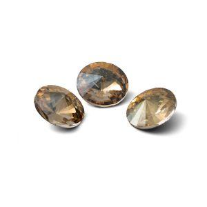 Okrągły kryształ 10mm, RIVOLI 10 MM GAVBARI IRIDESCENT GOLD