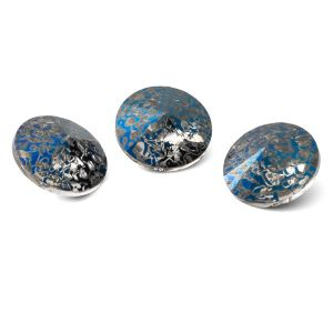 Okrągły kryształ 12mm, RIVOLI 12 MM GAVBARI METALIC BLUE PATINA