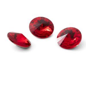 Okrągły kryształ 12mm, RIVOLI 12 MM GAVBARI LIGHT RED