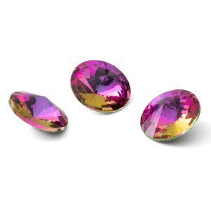 Okrągły kryształ 12mm, RIVOLI 12 MM GAVBARI PURPLE ROSE