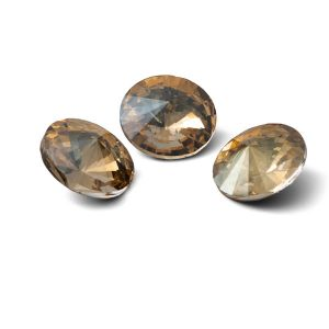 Okrągły kryształ 12mm, RIVOLI 12 MM GAVBARI IRIDESCENT GOLD