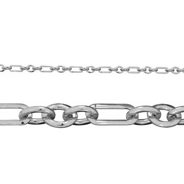 Łańcuszek metraż - typu Ankier*srebro AG 925*AF 100 3+1 3,6x8,6 mm (POLEROWANY)