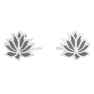 Kolczyk sztyft - kwiat lotosu*srebro AG 925*KLS LKM-3002 - 0,50 9x9 mm