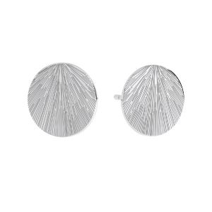 Kolczyk sztyft - blaszka okrągła fakturowana*srebro AG 925*KLS LKM-3009 - 0,50 10x10 mm
