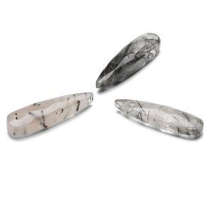 STRZAŁA Kwarc z czarnym rutylem 30 MM GAVBARI, kamień półszlachetny