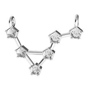 Zawieszka łącznik - znak zodiaku - waga baza do kryształów*srebro AG 925*ODL-00655 15,5x23 mm