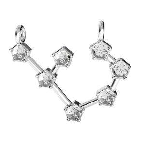 Zawieszka łącznik - znak zodiaku - strzelec baza do kryształów*srebro AG 925*ODL-00657 17,5x19 mm