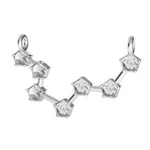 Zawieszka łącznik - znak zodiaku - waga baza do kryształów*srebro AG 925*ODL-00647 16,5x24 mm