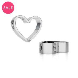 Rodowana zawieszka - celebrytka - serce*srebro AG 925*ODL-00236 11,1x13,3 mm
