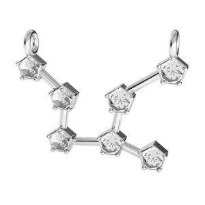 Zawieszka łącznik - znak zodiaku - panna baza do kryształów*srebro AG 925*ODL-00654 16,1x23,5 mm