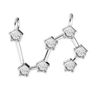 Zawieszka łącznik - znak zodiaku - koziorożec baza do kryształów*srebro AG 925*ODL-00658 18x19,3 mm