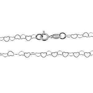 Łańcuszek z serc*srebro AG 925*SRC 045 45 cm