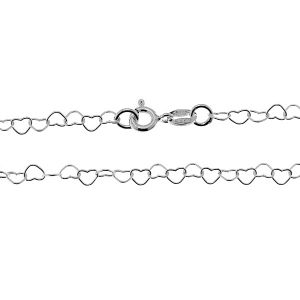 Łańcuszek z serc*srebro AG 925*SRC 045 40 cm