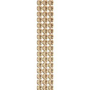 40001/003 012 001GSHA, Crystal Mesh Standard 3 rzędy, Golden Shadow