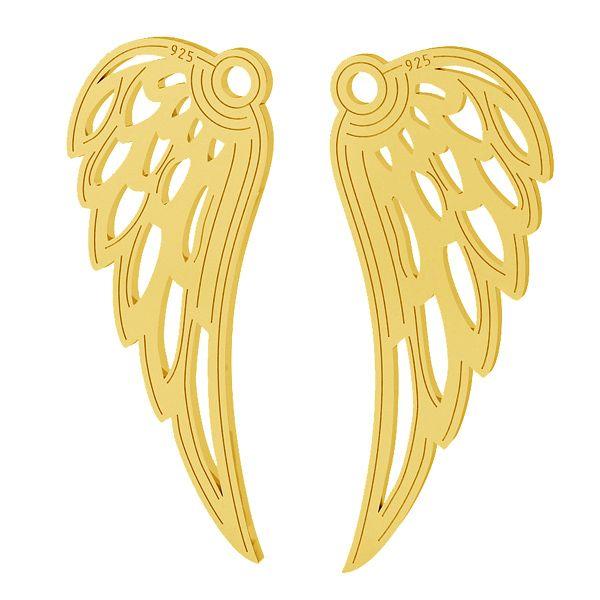 srebrna zawieszka skrzydło anioła