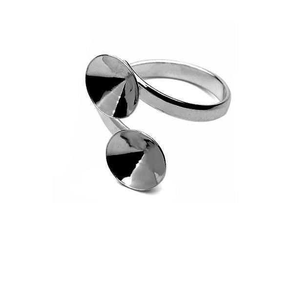 pierścionek srebrna baza