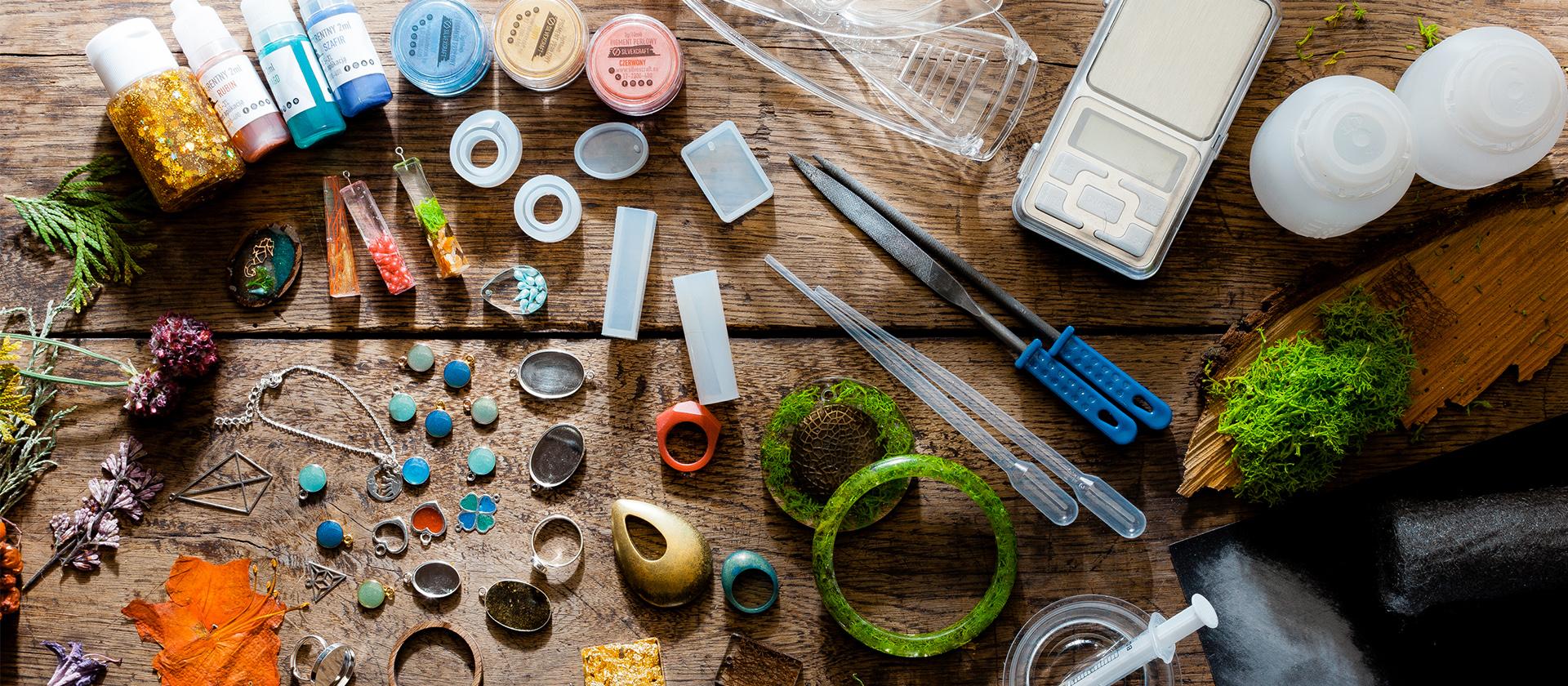 półfabrykaty do wyrobu biżuterii - do żywicy