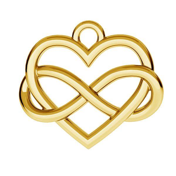 wisiorek serce ze znakiem nieskończoności
