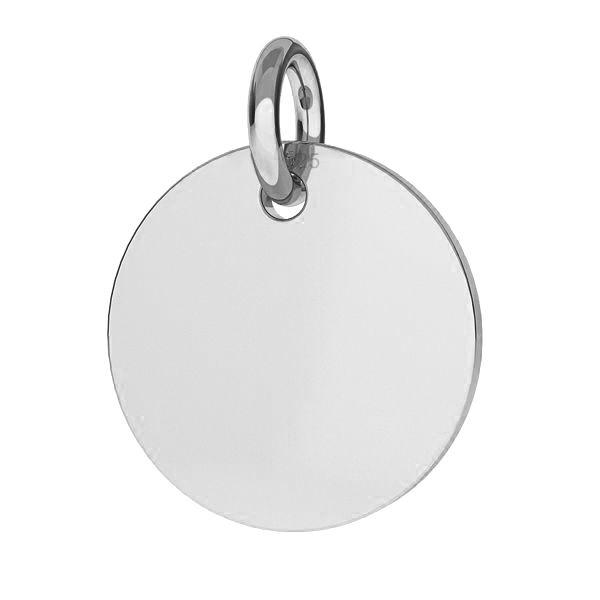 zawieszka blaszka okrągła
